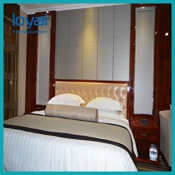 5 Star Hilton Style King Room Hotel Furniture with PU Leather Headboard